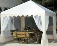 an outdoor shade canopy can give you more options than a solid shade structure