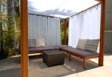 Outdoor Cabana Curtains Shade Structures Outdoor Shades