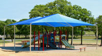 a simply tent canopy shades a playground