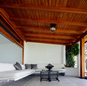 wood is a versatile and beautiful outdoor shade material